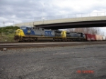 A pair of AC4400CW's lead the CSX Q285 WB on the New Lead